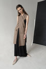 - CARAMEL CRISS CROSS SLEEVELESS JACKET, image no.6