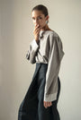 - GRAY PUFFED SLEEVES BLOUSE, image no.3