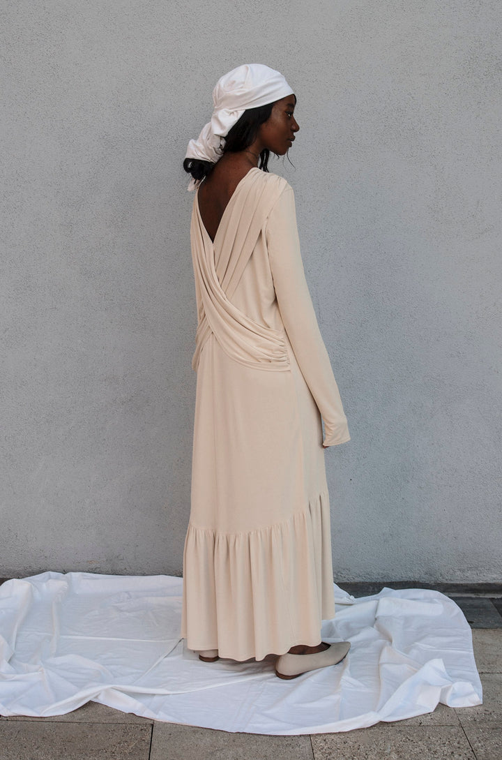 K M by L A N G E - IVORY SHTORA DRESS