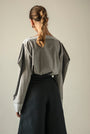 - GRAY PUFFED SLEEVES BLOUSE, image no.13