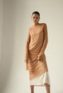 - ENDLESS SLEEVES nude tulle DRESS, image no.2