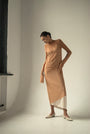 - ENDLESS SLEEVES nude tulle DRESS, image no.4
