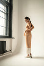 - ENDLESS SLEEVES nude tulle DRESS, image no.3