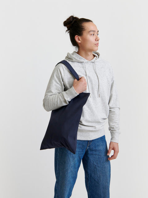 Pure Waste Tote Bag Solid Navy