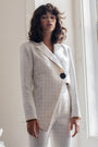 Carolina Machado - Rosa Asymmetrical Blazer with Buttons Detail, image no.1