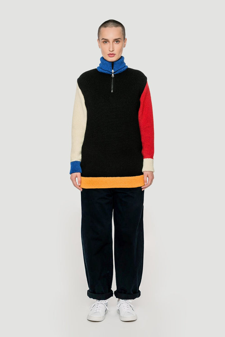 Rotholz - 'Bauhaus' knitted pullover Primary