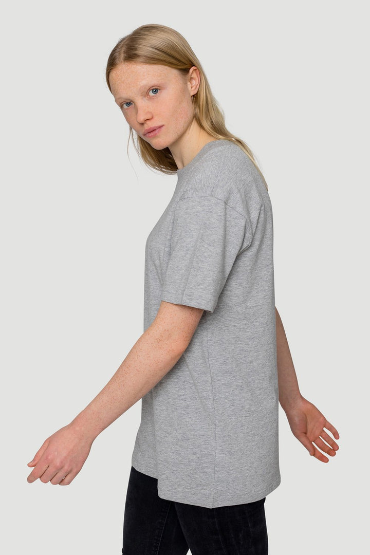 - 'Basic' T-Shirt Big Collar Grey