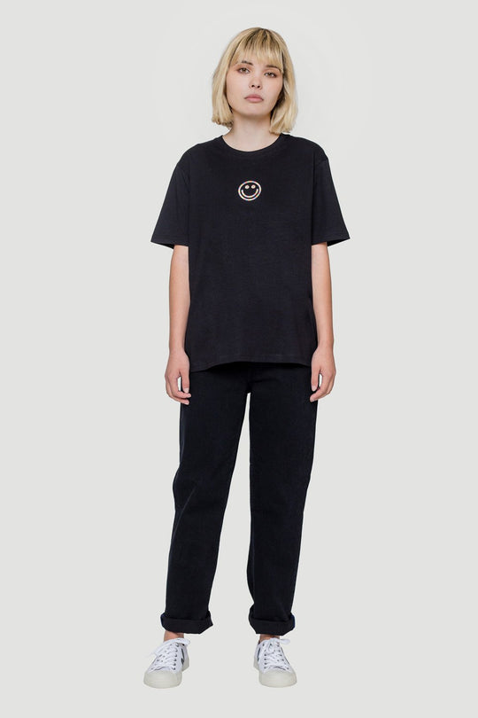Smiley T-Shirt Black W