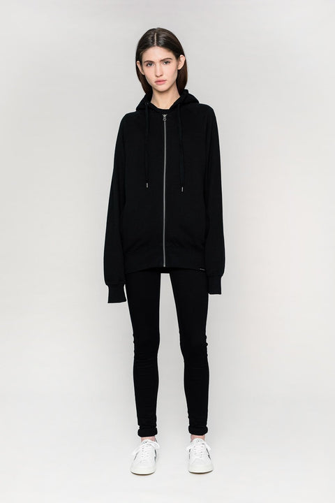 'CAPITAL' Zip-Up Hoodie Schwarz