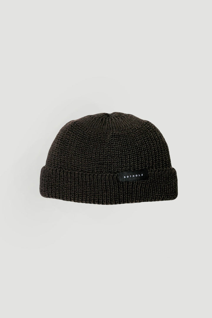 - Cropped Beanie Wool Brown