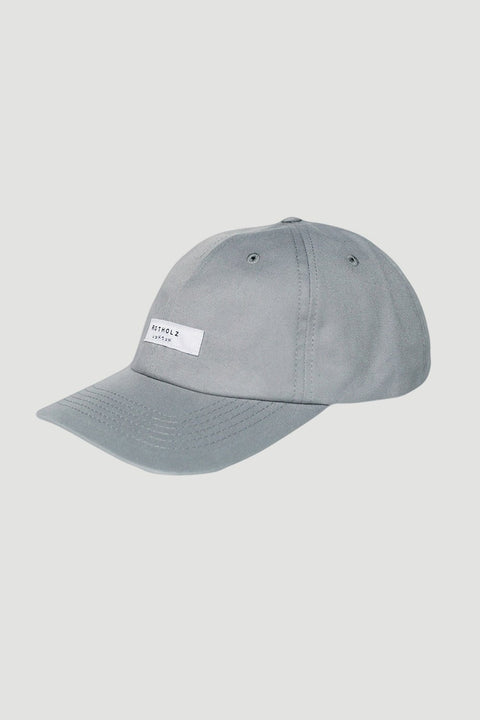 'Label' Dad Cap Grey