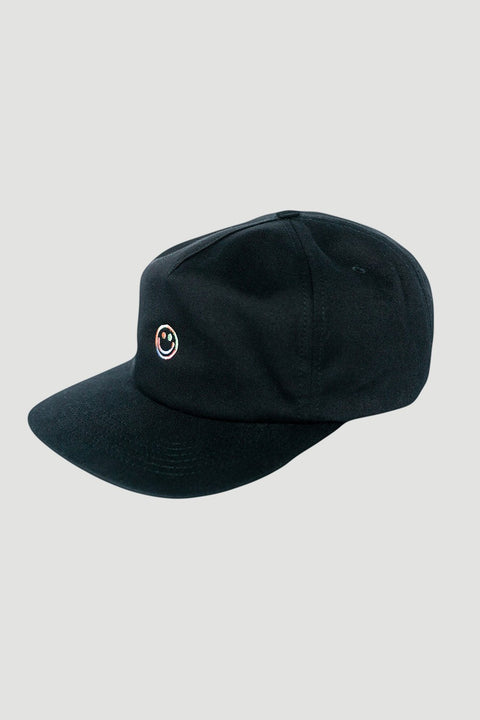 'Smiley' Seal Cap Schwarz