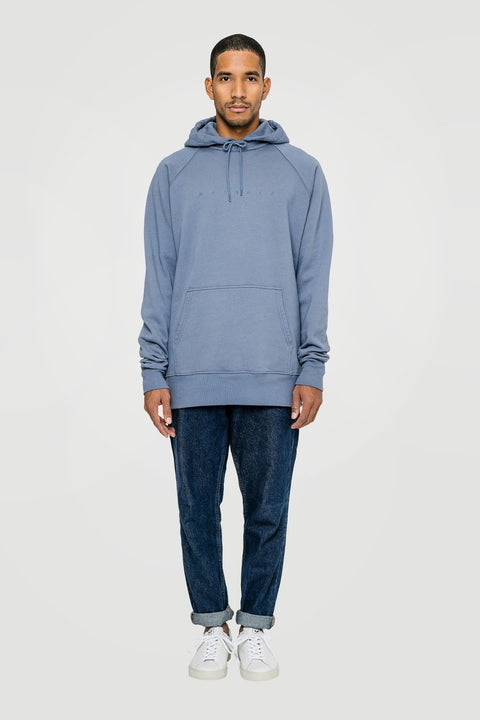 Spacing Organic Hoodie Blue
