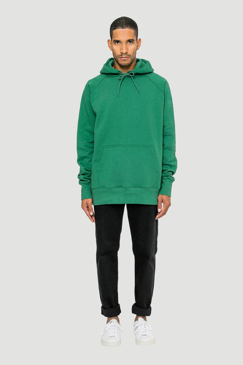 Spacing Organic Hoodie Green