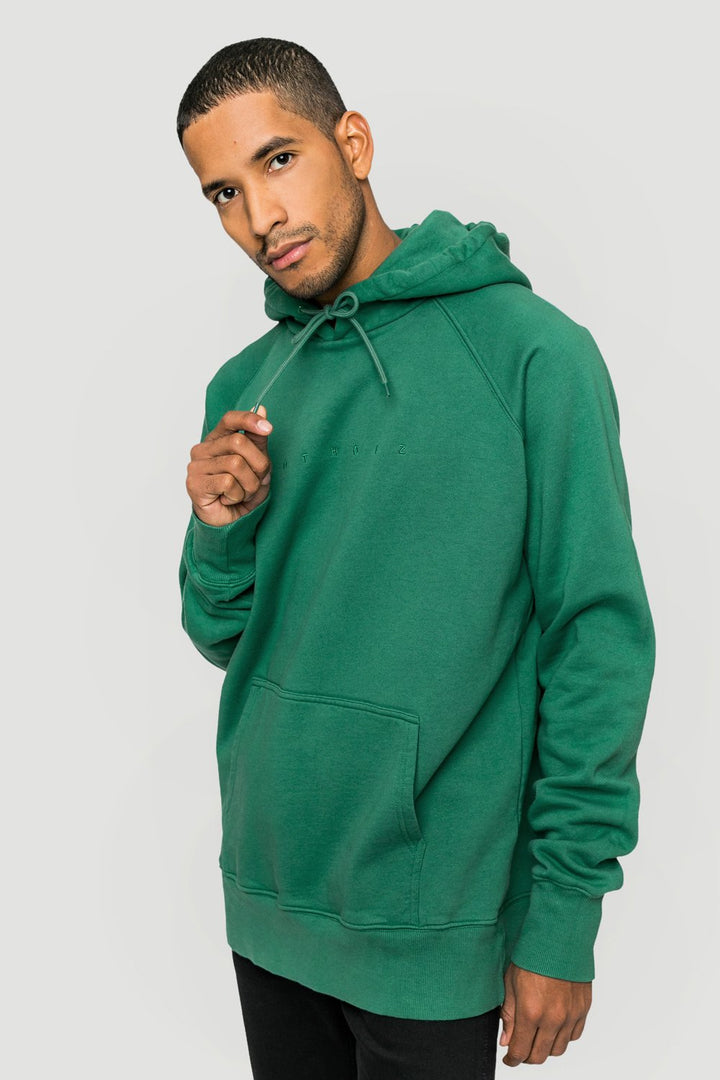 - 'Spacing' Organic Hoodie Green