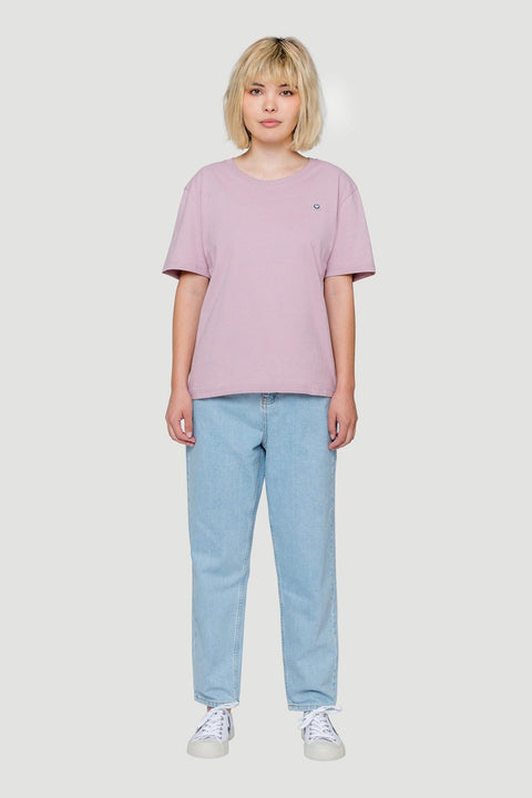 Smiley Cropped T-Shirt Lilac Pink W