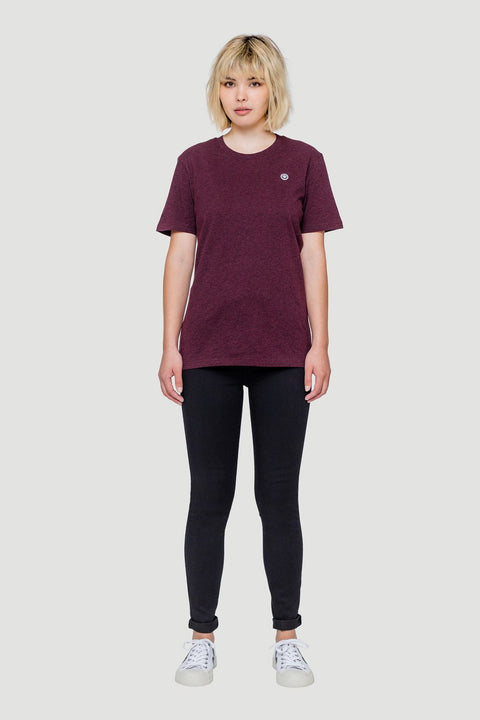 Smiley T-Shirt Wine Red W