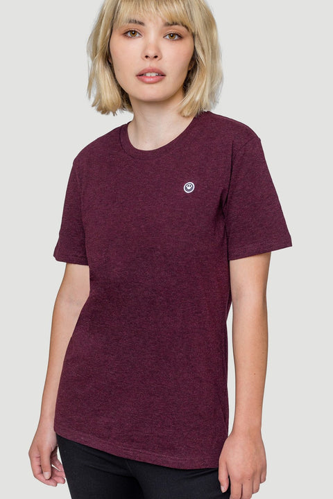 'Smiley' T-Shirt Burgundy