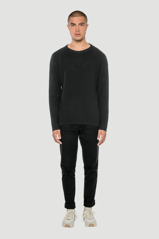 Basic Merino O Pullover Dark Grey