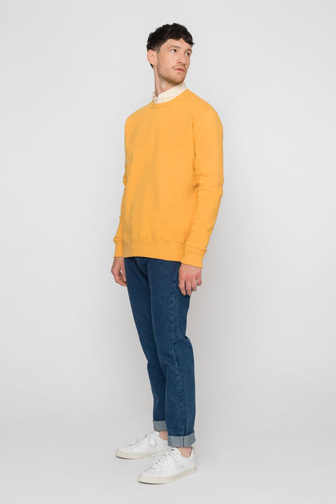 'Rights' Organic Sweatshirt Mustard Yellow