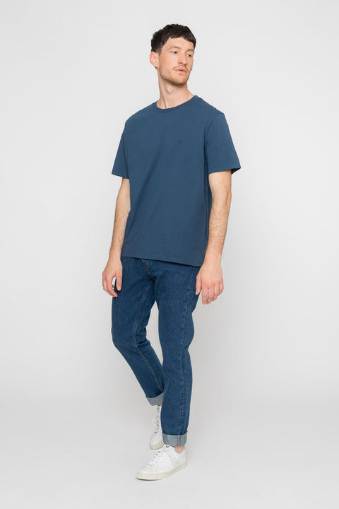 'Rights' Organic T-Shirt Indigo Blue