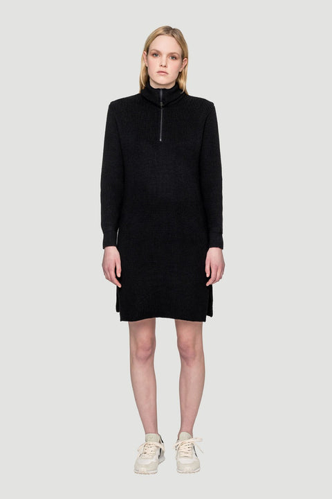 Basic Knit Dress Black W