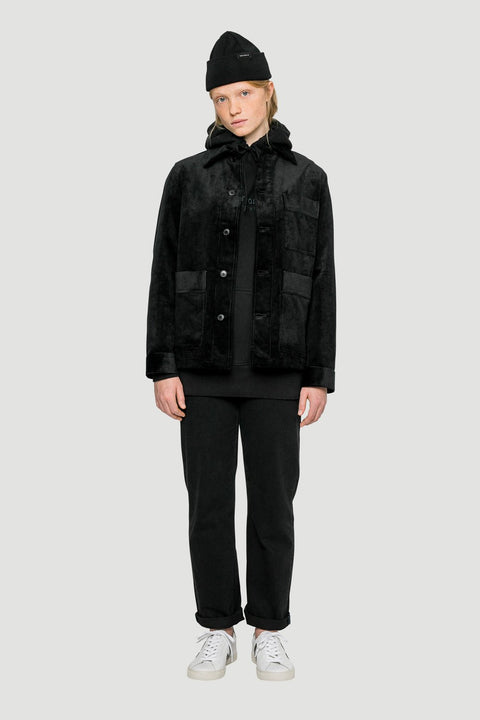 Basic Organic Corduroy Jacket in Black