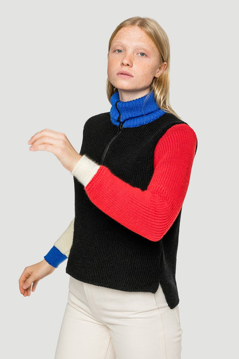 'Bauhaus' Cropped Knitted Troyer