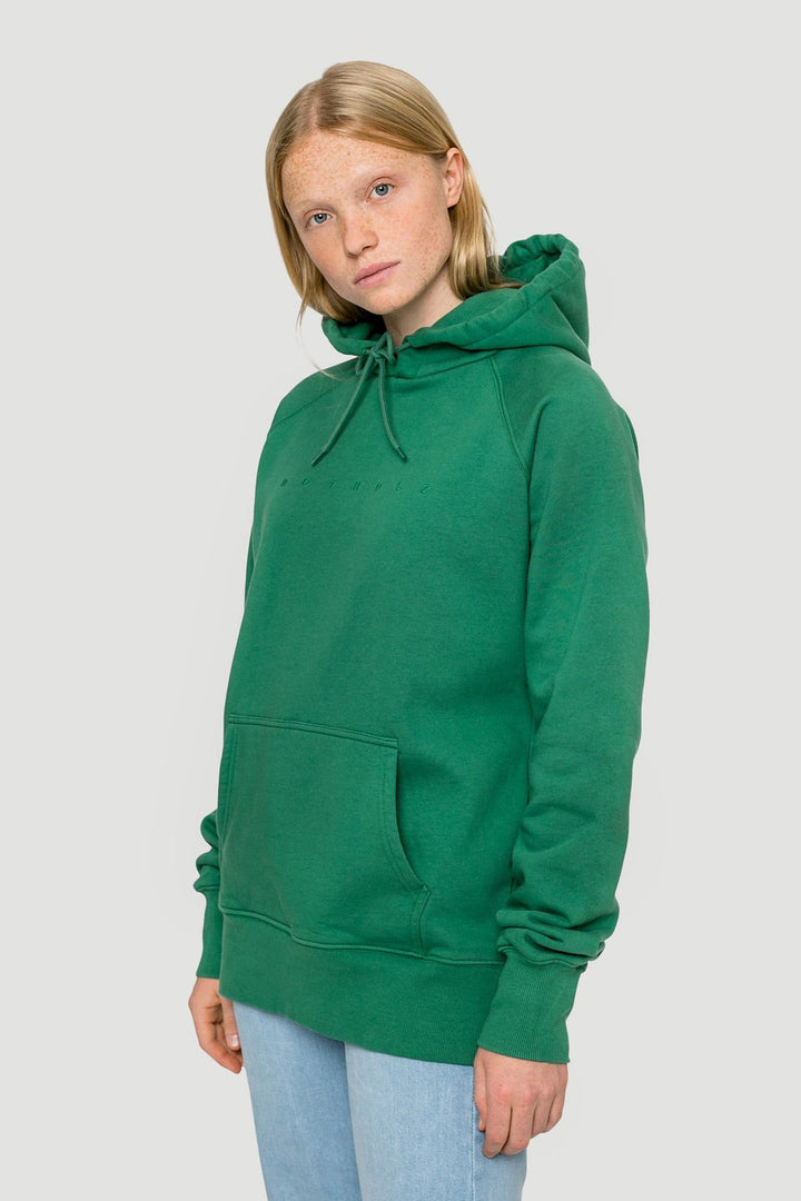 - 'Spacing' Organic Oversize Hoodie Green