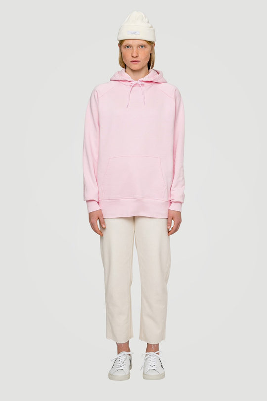 Spacing Oversized Organic Hoodie Pink W