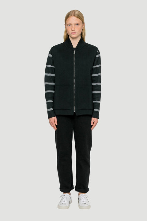 'Basic' Organic Milano Cardigan in Black