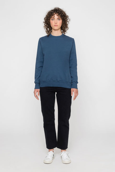 'Rights' Organic Sweatshirt Indigo Blue