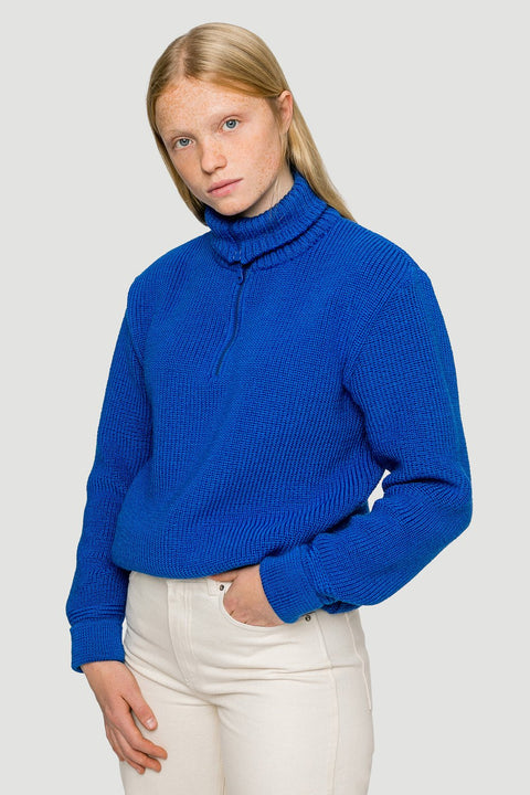'Basic' woolen knit Troyer Royal