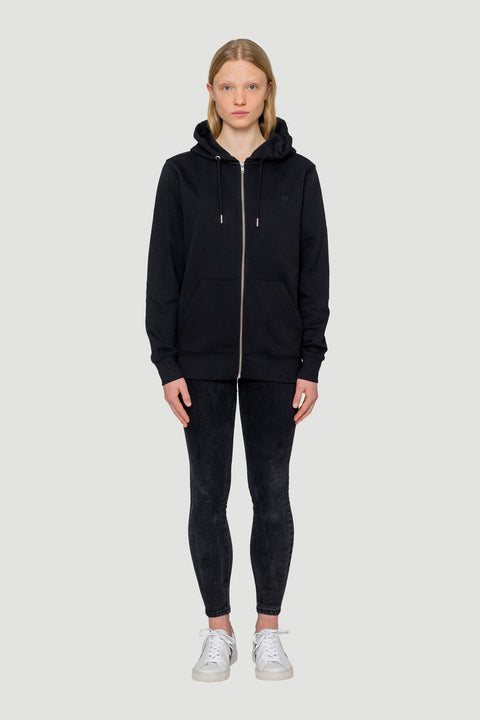 'Rights' Organic Zip-Up Hoodie Black
