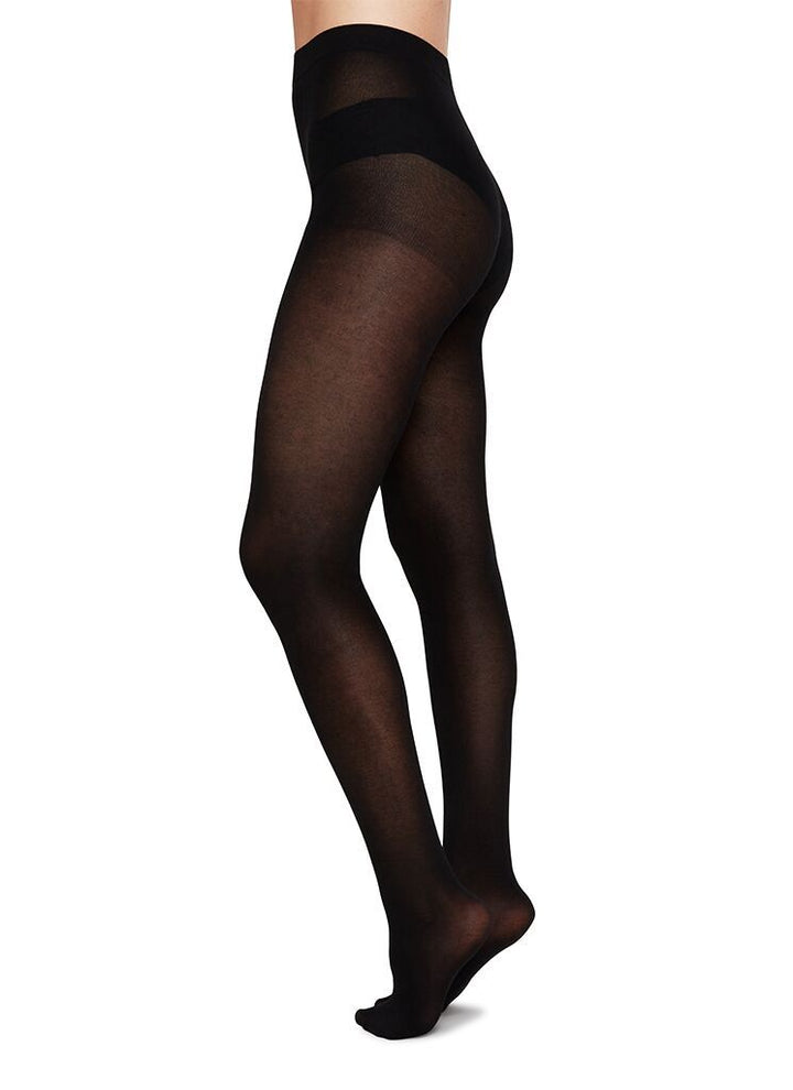 Swedish Stockings - Stina Premium Bio-Cotton Tights Black