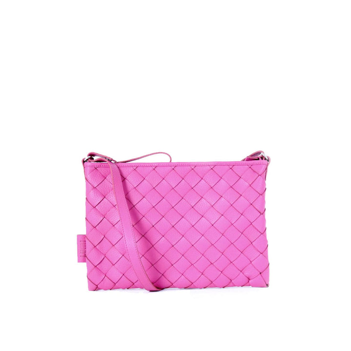 - Trine Woven Clutch Large Raspberry