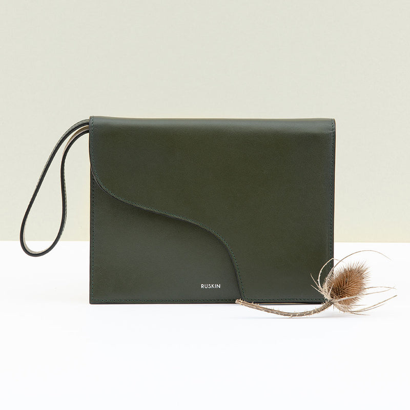 The Camille Clutch in Birch Nappa Leather