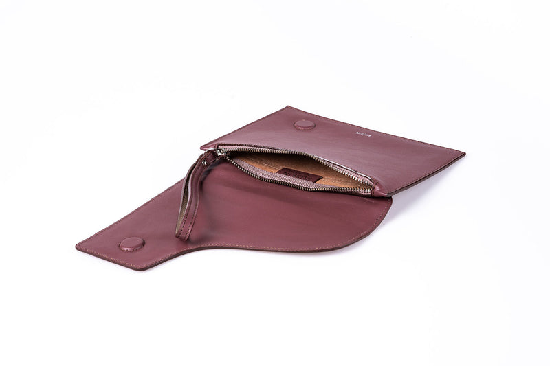 The Camille Clutch in Heather Nappa Leather