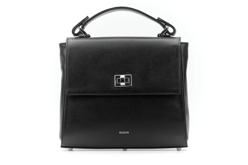 The Aster in Black Nappa Leather