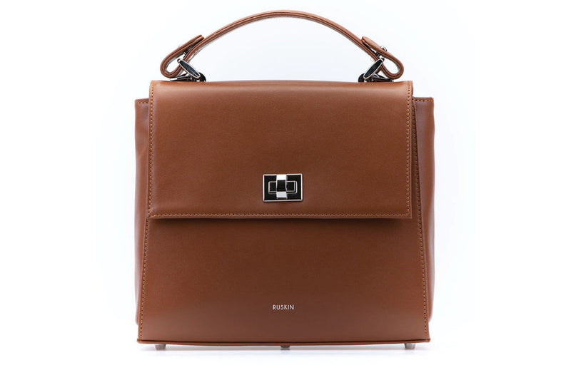 The Aster in Cognac Nappa Leather