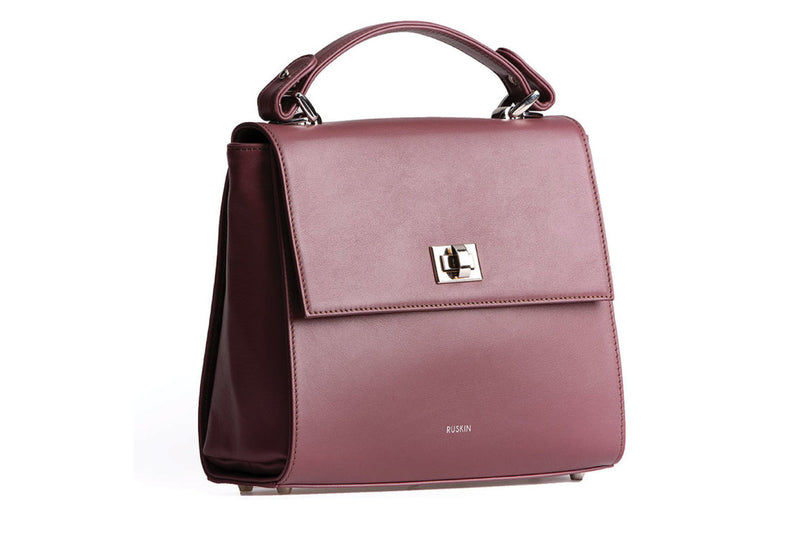 The Aster in Heather Nappa Leather