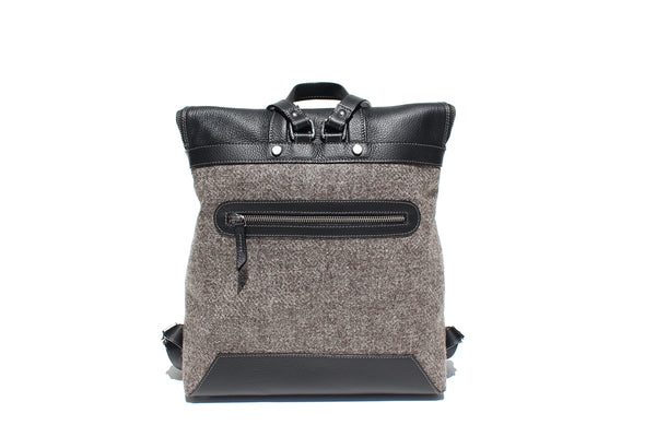 The Hopper in Black Leather and Tweed