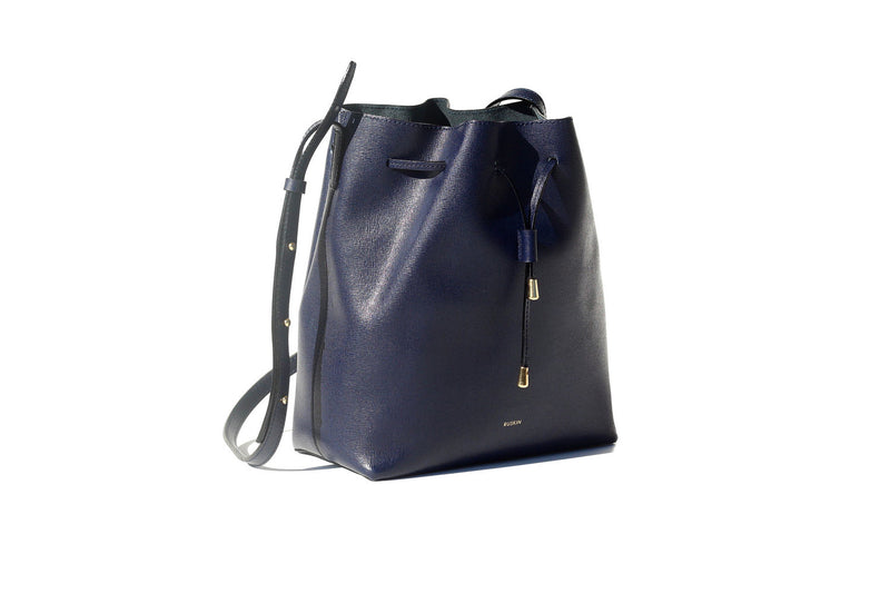 The Nara Medium in Oxford Blue Saffiano Leather