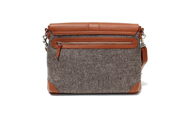 The Cuthbert in Tan Leather and Tweed