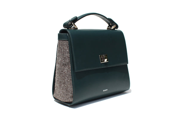 The Aster in Pixie Leather & Tweed