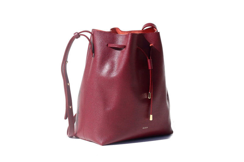 The Nara Medium in Bordeaux Saffiano Leather
