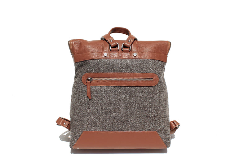 The Hopper in Tan Leather and Tweed