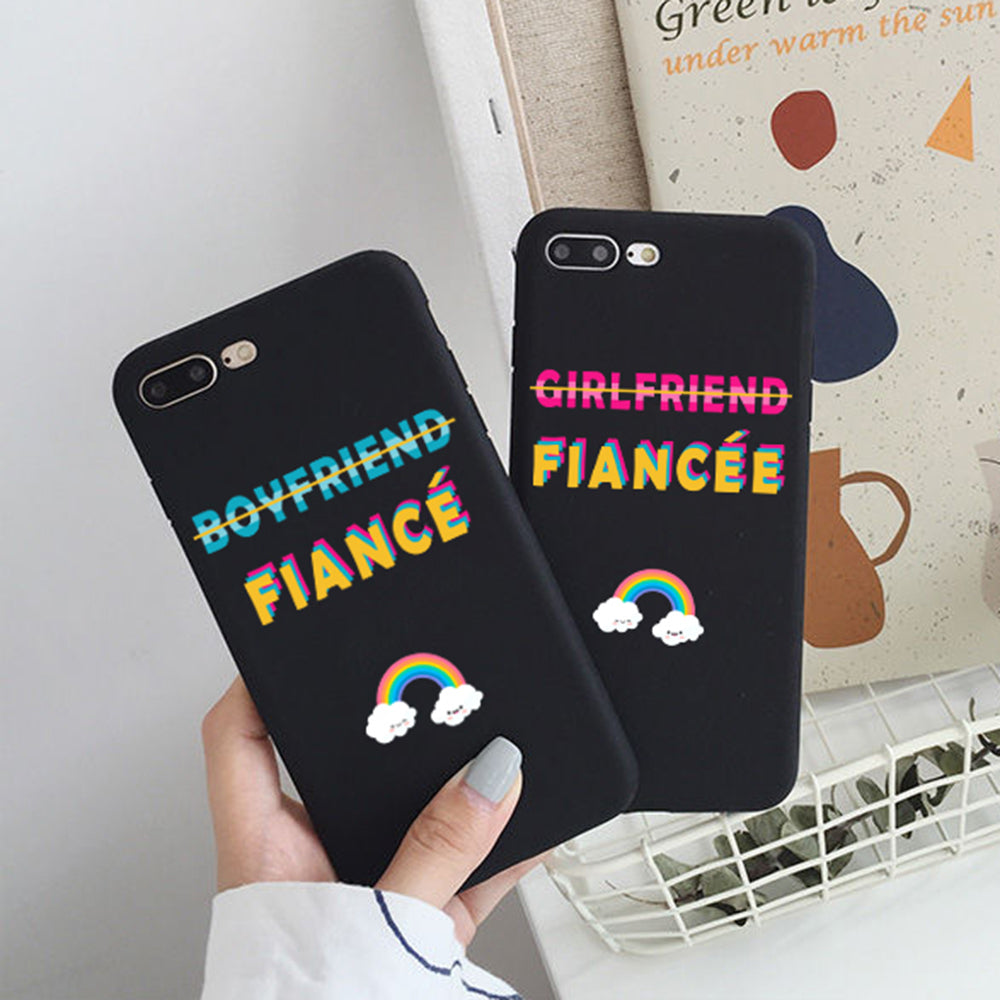 couples phone case for fiance and fiancee