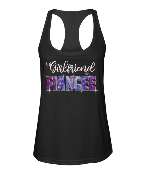 Fiancee Female Romantic Gift For Her - Bling Bling Fiancée Tank Top - Magic Proposal