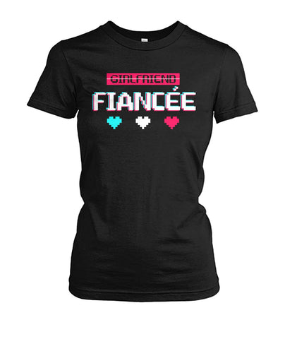 Fiancee Female Romantic Gift Idea Shirt - Small heart Tee - Christmas Gift For Couples